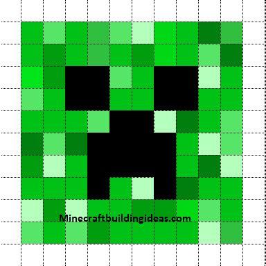 minecraft pixel art templates creeper