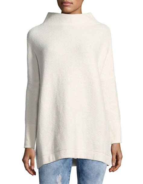 free people slouchy ottoman tunic lyst free people ottoman slouchy tunic sweater in white