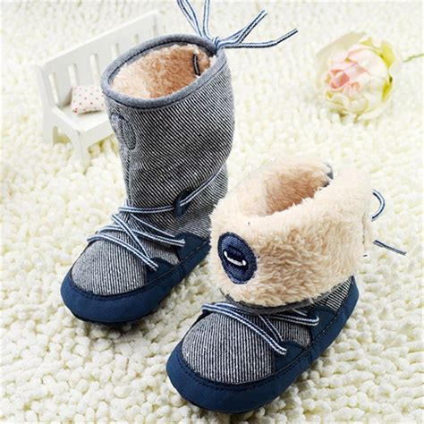 toddler boy winter boots 0 18months baby boy winter warm snow boots lace up soft