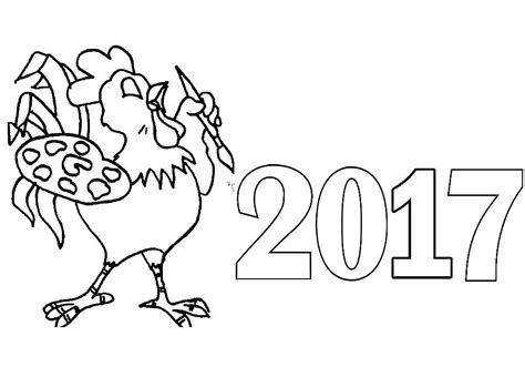 2017 year color happy new year 2017 coloring pages to download and print