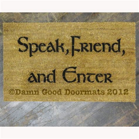 Lotr Doormat lotr tolkien speak friend and enter hobbit doormat stuff