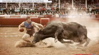 Extreme sports sport bull fighting design inspiration