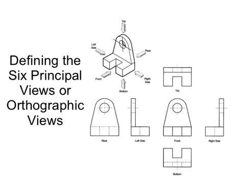 define section view orthographic projection