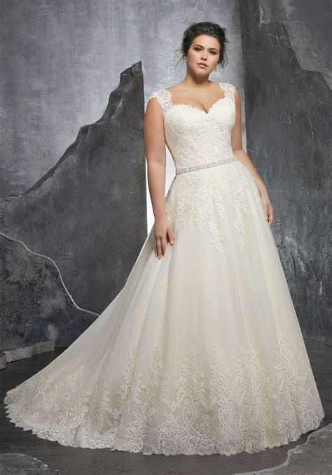 Wedding Plus Size Dresses by Kenley Wedding Dress Style 3232 Morilee