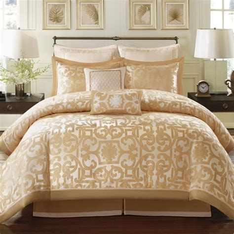 gold comforter set madison park signature castello 8 piece comforter set