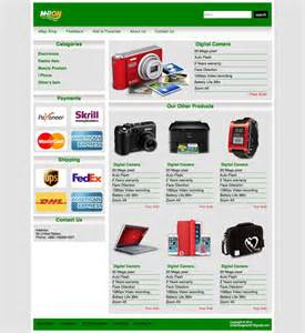 ebay shop template free web templates html5 and css