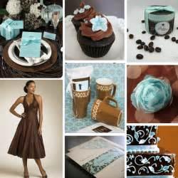 aqua and chocolate wedding colours primadonna bride