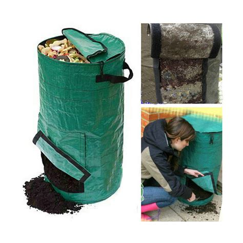 Compost Bag Pe Fermentation Waterproof Bag Planter Bags Manure Compost Kitchen Waste Bags Melons Leaves