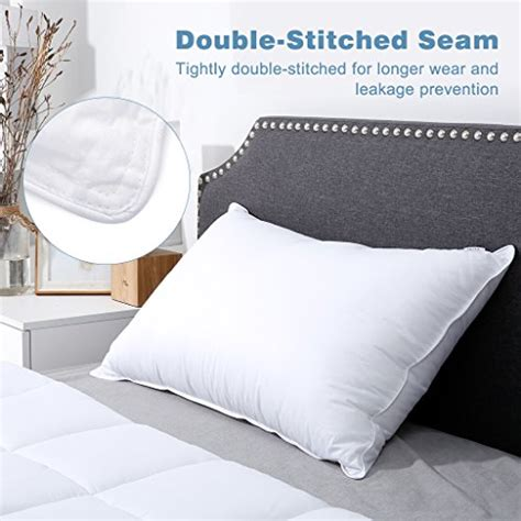 songmics down alternative bed pillows 100 cotton cover langria luxury hotel collection bed pillows plush down