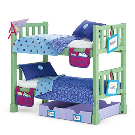 american girl bed set american girl retired c bunk bed set with comforters