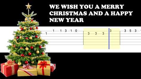 merry christmas   happy  year easy guitar tabs tutorial youtube