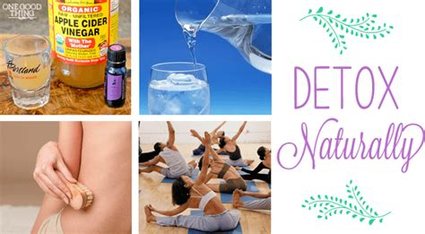 Healthy Ways Of Detoxing by 7 Ways To Detox Naturally 183 One Thing By Jillee
