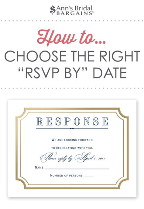 wedding invitation respond by date how to choose the right rsvp by date