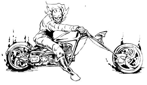 ghost rider coloring pages coloring home