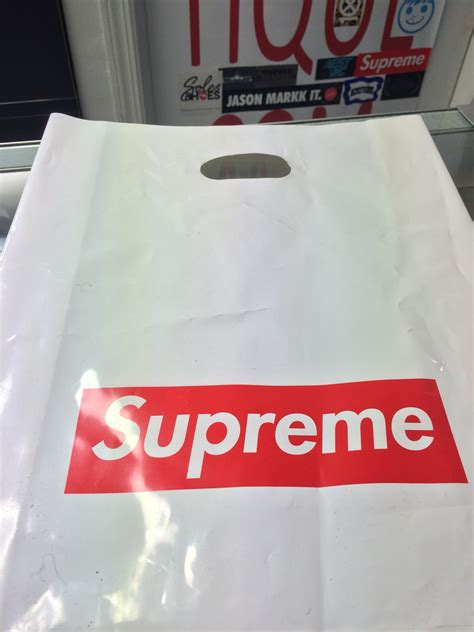 supreme shopping supreme retail shopping bag small jwong boutique
