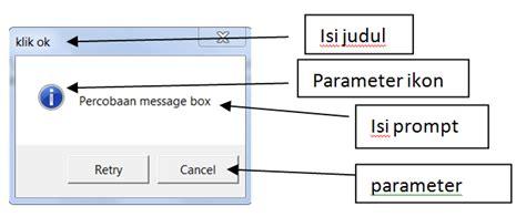 Ok Isi 3 3 Box membuat message box dan input box di vb 6 ktt