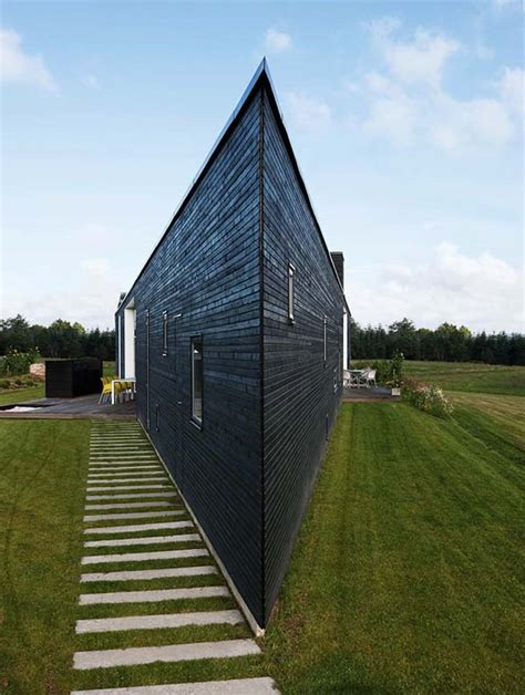 triangle shaped house design triangular home in denmark for a young and happy family