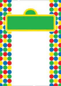 template of sesame street sign for invitation images