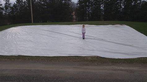 backyard ice rink tarps backyard rink tarp pictures to pin on pinterest pinsdaddy