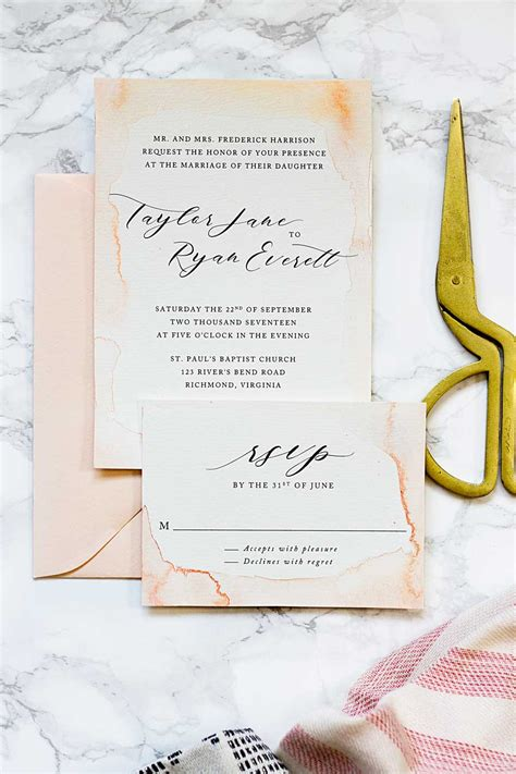 watercolor invitation tutorial the coolest watercolor wedding invitations of different