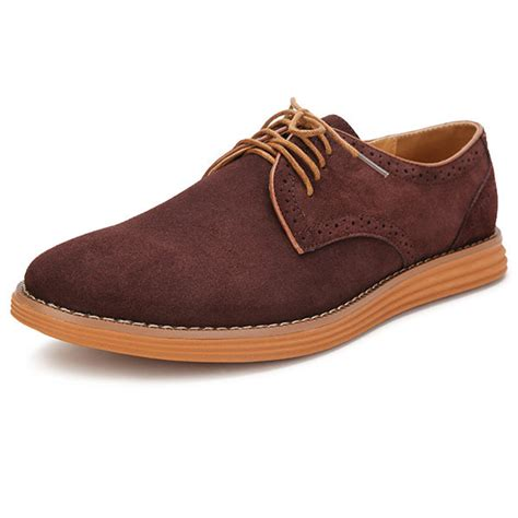 color oxford shoes big size suede color lace up flat casual oxford