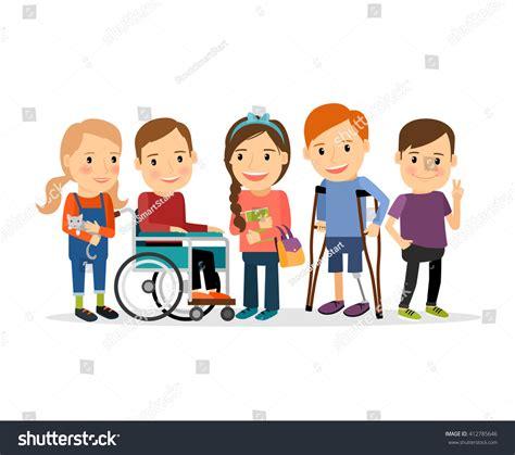 for special children special needs children friends friends handicapped stock