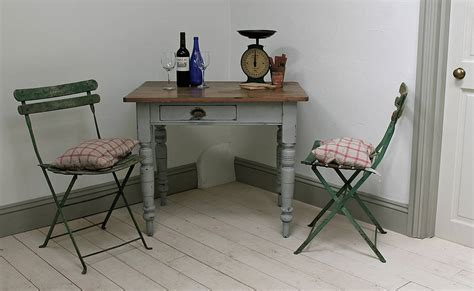 small painted pine kitchen table by distressed but not