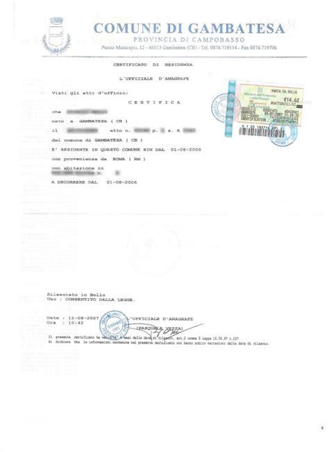ufficio patenti prefettura certificato di residenza beneficiario decreto