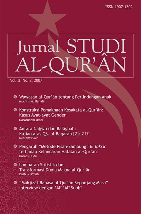 Kajian Sastra Anak Edisi 2 tempat berbagi unduh jurnal studi al quran vol 2 no 2 2007