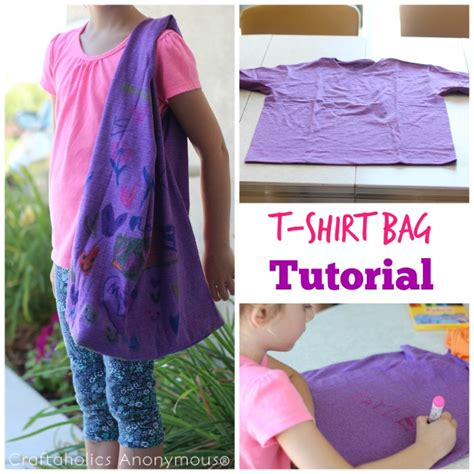 pattern for t shirt bag craftaholics anonymous 174 easy t shirt bag tutorial