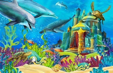 The Underwater Castle jigsaw puzzle in Under the Sea