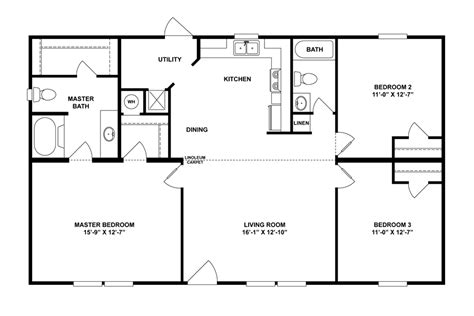 28x48 floor plans floorplan mvp spec 28x48 44 29mvp28443ah oakwood