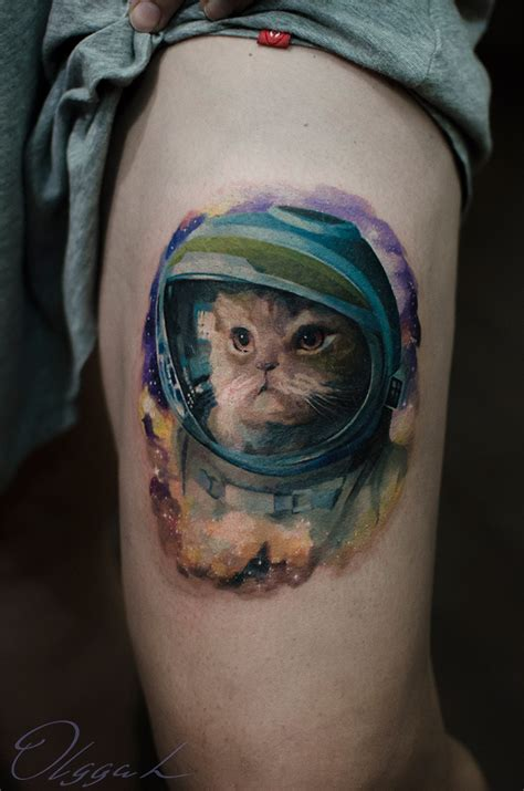 cat in space suit arm tattoo best tattoo design ideas