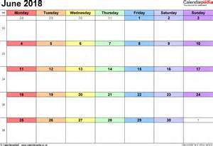 2018 Calendar For June Calendar June 2018 Uk Bank Holidays Excel Pdf Word Templates