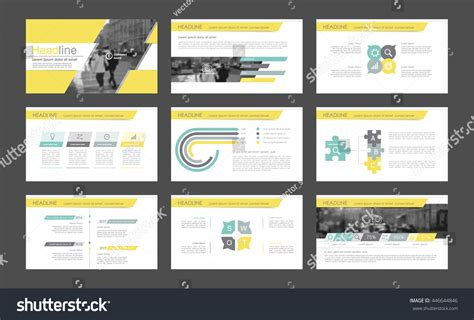leaflet layout powerpoint elements infographics presentations templates leaflet