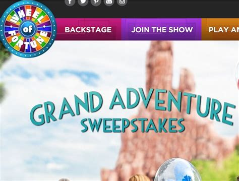 Wheeloffortune Com Sweepstakes - wheel of fortune grand adventure sweepstakes sweeps maniac