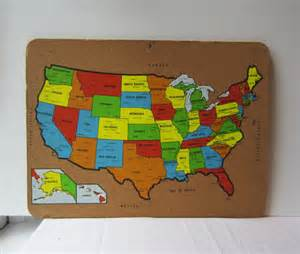 cork usa map bulletin board colorful vintage united states map bulletin cork by