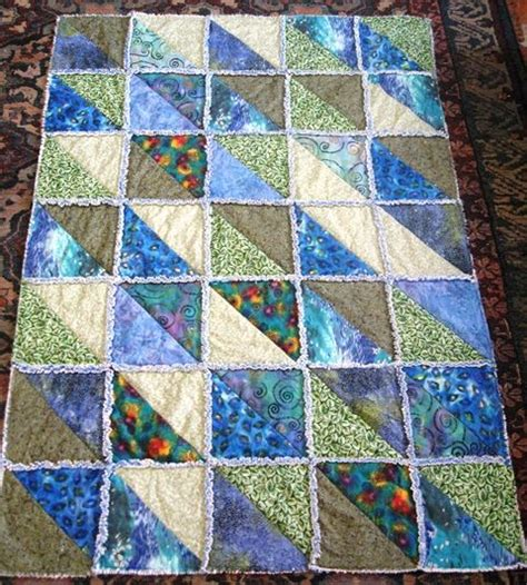 quilt pattern triangle squares rag quilts with triangles switched to 12 1 2 half
