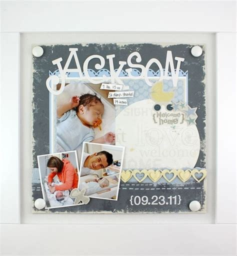 scrapbook layout baby boy baby boy scrapbook page cool crafts pinterest