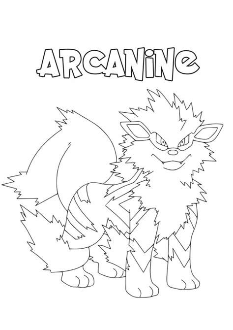 pokemon coloring pages growlithe pokemon arcanine coloring pages images pokemon images