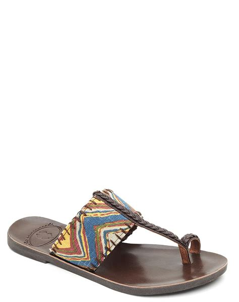 lucky sandals lucky brand harmony sandals in brown tobacco lyst