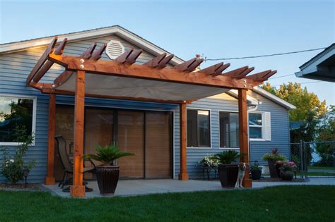 Kitchen Cabinet Hardware Installation custom pergola with built in sail cloth shade 8 000