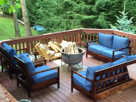 ana white furniture for the deck diy projects