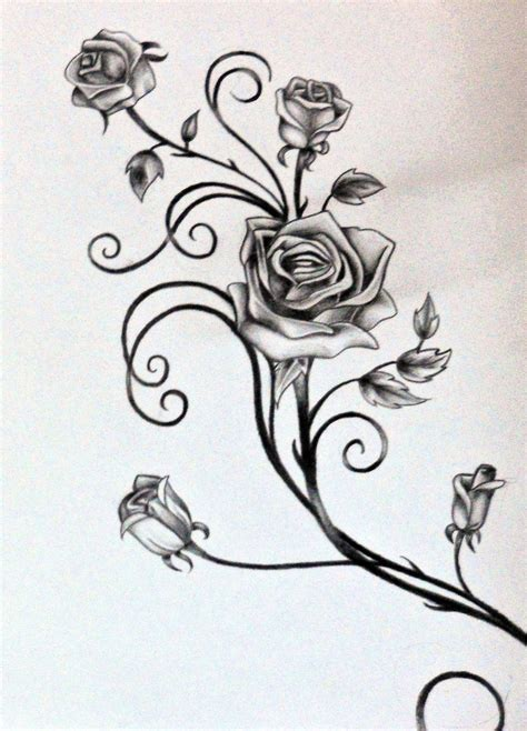 vine rose tattoo roses and vines tattoos vine tattoos