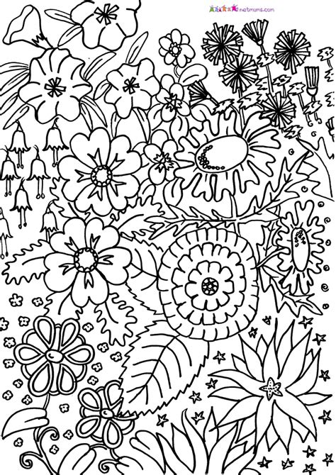 coloring pages for adults difficult flower printable difficult coloring pages for adults 52418