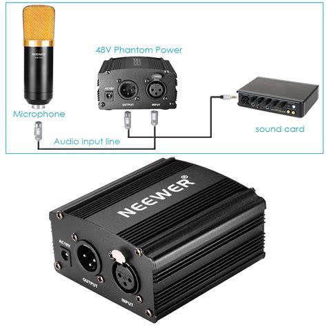 alimentazione phantom neewer 48v phantom power supply black with adapter and one
