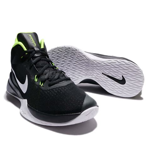 volt basketball shoes nike zoom evidence black white volt basketball shoes