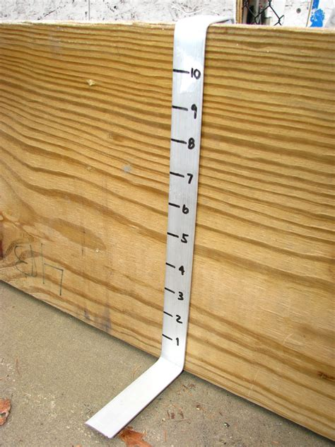 backyard rink thickness build your own backyard rink thickness ruler
