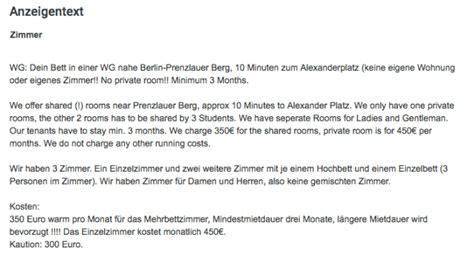 wohnung gesucht anzeige 11 unversch 228 mte wg anzeigen aus berlin mit vergn 252 berlin