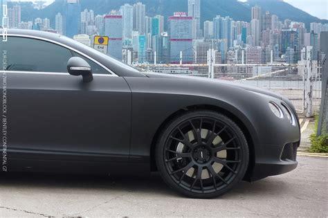 matte black bentley bentley continental gt in matte black rides on pur wheels